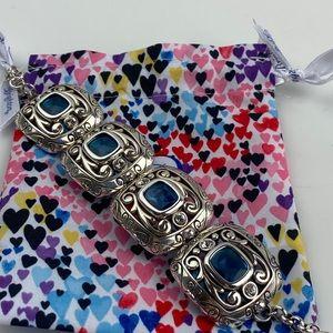 Brighton AZURE BLUE Silver Blue Bracelet